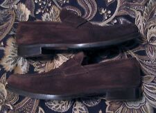 Fratelli Peluso Men's Shoes Handmade Italy EU 43.5 US 10.5 Brown Loafer Suede