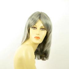 Perruque femme grise cheveux lisses ref  EDITH 51