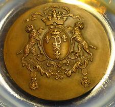 médaille bronze Ste hippique de Péronne armoiries devise URBS NESCIA VINCI