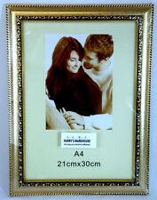 6 X Golden A4 Picture Photo Frame Frames Wholesale BULK Lots