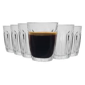 Duralex Provence Glass Espresso Cups Shot Glasses Set 90ml x6