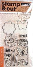 Butterfly and Flower Hero Arts Clear Stamp & Cut Thin Metal Die Set DC147 NEW!
