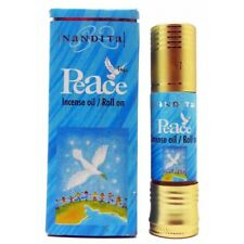 Nandita Peace Indian Perfume Oil - Ladies Natural Roll On Cologne Fragrance 8ml