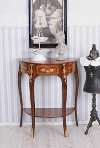 Wall Side Table Console Intarsientisch Table Telephone Baroque Console Table