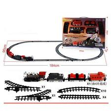 Train Electric Set Educational Kids Toys Battery Operated Railway Car Xmas Gift