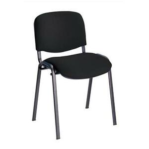 30 x Conference  Stacking Chair Black Fabric (MULTIBUY OFFER)
