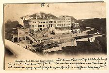 24666 PC Postcard HONG KONG Peak Hotel and Tramway station 1902 Ak Drahtseilbahn