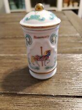 Lenox Carousel Spice Jar - Rosemary - with Lid - 1993 - Cute