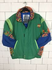 VINTAGE RETRO BRIGHT BOLD URBAN SKI SNOW JACKET COAT WINDBREAKER UK 18 #378