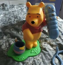 Disney Winnie The Pooh Corded Telephone with pen holder honeypot