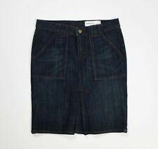 Paper denim cloth minigonna jeans donna emma nuova W30 tg 44 stretch blu T5128