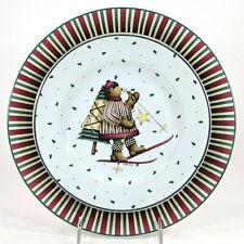 "Sakura SLEDDING CHARACTERS - BEAR 8"" Salad & 11"" Dinner Plate Set 2Pc Christmas"