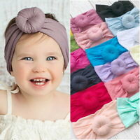 Baby Girls Bunny Kids Turban Knot Rabbit Headband  Hair bands Head wrap