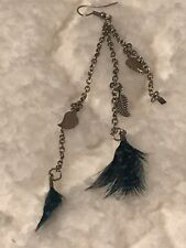 Paparazzi Charm Feather Earrings