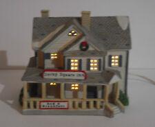 95 Lemax Village Square Porcelain Lighted Building Derby Square Inn B&B Cord/Lig
