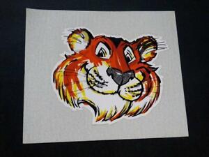 "Vintage Original Exxon Esso Enron Tiger Head Gas Oil Advertising Sticker 5"""