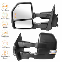 2 Power Heated Tow Mirrors w/ Temp Sensor For 15-19 Ford F-150 Truck LH+RH 8 Pin