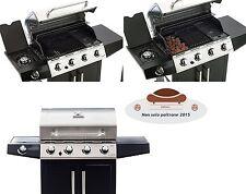 Barbecue 4 fuochi maxy con fornello laterale bruciatori acciaio inox