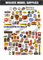 1/43 scale Pre-cut Vintage style Garage sign stickers diorama/model car. 2