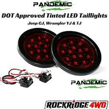 Pandemic Tinted LED Taillights Red w/ Red Diodes Jeep CJ Wrangler YJ & TJ DOT