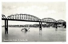 Missouri River Bridge St. Charles Missouri RPPC