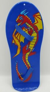 "Build A Bear Workshop Skateboard Dragon Blue Replacement 9"" Long Toy Retired"