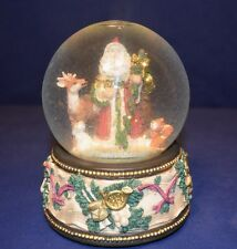 Santa Clause water globe music box from San Francisco Music Box Co.