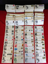 50 U.S. First Day Covers FDC // Cacheted Engraved // 1950's-2000's Estate Lot