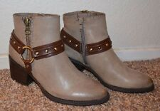 """NEW ~ SONOMA LIFE + STYLE Women BROWN Ankle Boots / Size 5 m / 2-1/4"""" Heel"""