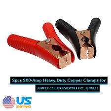 2pcs Car Auto Battery Terminals Cable Alligator Clamp Clip 200A Red & Black