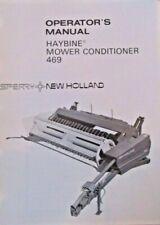 Sperry New Holland Operators Manual Haybine Mower Conditioner 469 Reprinted