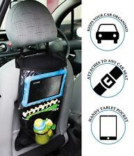 Car Backseat Organiser Multi Storage Pockets Tablet iPad Holder Travel Bag Black