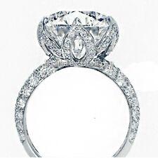Luxury Flower Design Women 3ct Diamonique Cz 925 silver Wedding Band Finger Ring