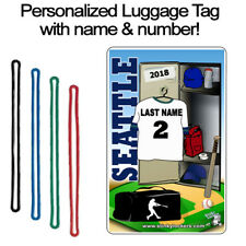 Personalized Seattle Baseball Luggage Tag