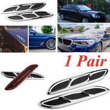 2PCS Car Shark Style Hood Vent Kit Hood Side Vent Louver Cooling Panel ABS