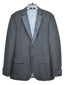 Ben Sherman Mens Cedar Blue Tuxedo Jacket Slim Fit Stretch 2 Button Notch Lapel