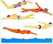 Swimmers Swimming Racing Sports Olympics Mrs Grossman Stickers
