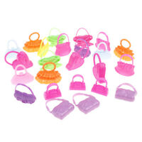 8 Pcs mix styles doll bags accessories toy colorized fashion morden bags Jf