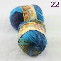 Sale Lot of 2 Skeins New Knitting Yarn Chunky Colorful Hand Wool Wrap Scarves 22