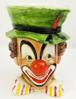 Vintage Relpo Clown Head Vase Planter #5598 Samson Import Co. 1965