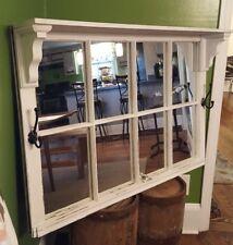 Architectural Salvage ~ Antique Window Sash Frame Shelf Hooks Home Decor 40x27