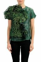 Maison Margiela 1 Green Short Sleeve Women's Blouse Top US S IT 40