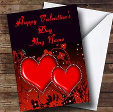 Red Diamond Heart Romantic Personalised Valentine's Greetings Card
