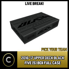 2016-17 UPPER DECK BLACK 5 BOX FULL CASE BREAK #H647 - PICK YOUR TEAM -