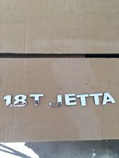99-02 Jetta 1.8T Rear Trunk Silver Emblem Logo Nameplate Individual Ornament Set