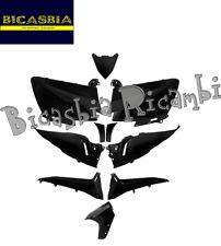 6375 - KIT 10 PEZZI FIANCATE SCUDO CARENE NERO LUCIDO YAMAHA 530 TMAX T-MAX