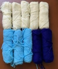 3 ply Used 10 skeins knitting yarn wool 2 lbs needlepoint crafts & other project