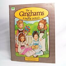 The Ginghams 4 Paper Dolls Whitman 1976 Sarah Katie Carrie Becky Unused