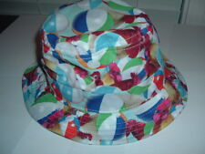 NWT DC SHOES BUCKET HAT L/XL COCK & BALLS ROOSTERS BEACH BALLS BRIGHT BEACH LID