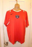 NIKE Dri-Fit Paris Saint Germain Football Soccer Red Jersey Men's Large Vintage